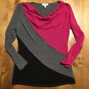 M Color Block Fashion Bug Sweater